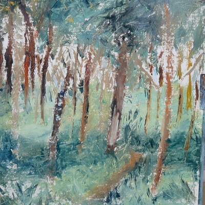 Rowena's woods - oils